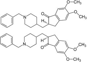 Struktur von (±)-Donepezil