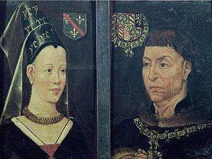 Portrait of Maria Portinari - Double Portrait of Charles the Bold and Isabella of Bourbon. Unknown artist, 16th c. Ghent. Museum voor Schone Kunsten