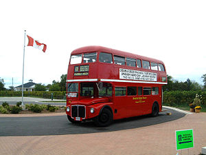 Double decker bus at Inniskillin vineyard in N...