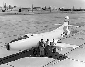 Le Skystreak à Edwards AFB en 1949.