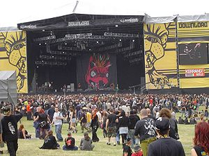 Download Festival - A view of the Main Stage at Download Festival 2005