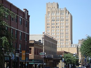 Historic Downtown Abilene, Texas, United States.