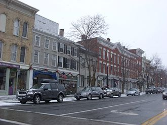 National Register of Historic Places listings in Madison County, New York - Image: Downtown Cazenovia, NY
