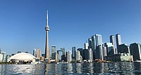 Downtown Toronto in September 2018 (Early Sunday Morning, view from a kayak).jpg