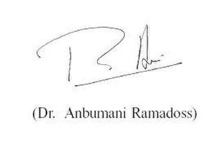 Anbumani Ramadoss - Image: Dr Anbumani Ramadoss