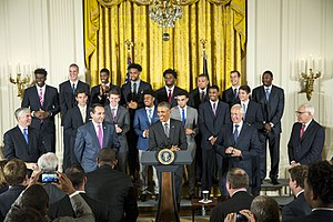 Amile Jefferson - Duke Blue Devils in the White House East Room Ceremony 2015