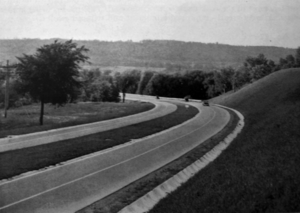 Cootes Drive - The newly completed Dundas Diversion, 1937