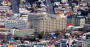 Dunedin Public Hospital - Dunedin Hospital from Signal Hill