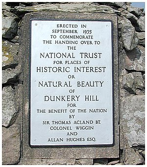 Dunkery Hill - The National Trust plaque on the summit