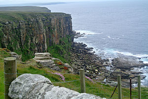 Dunnet Head - Dunnet Head view, Scotland. Rocks are the Old Red Sandstone.