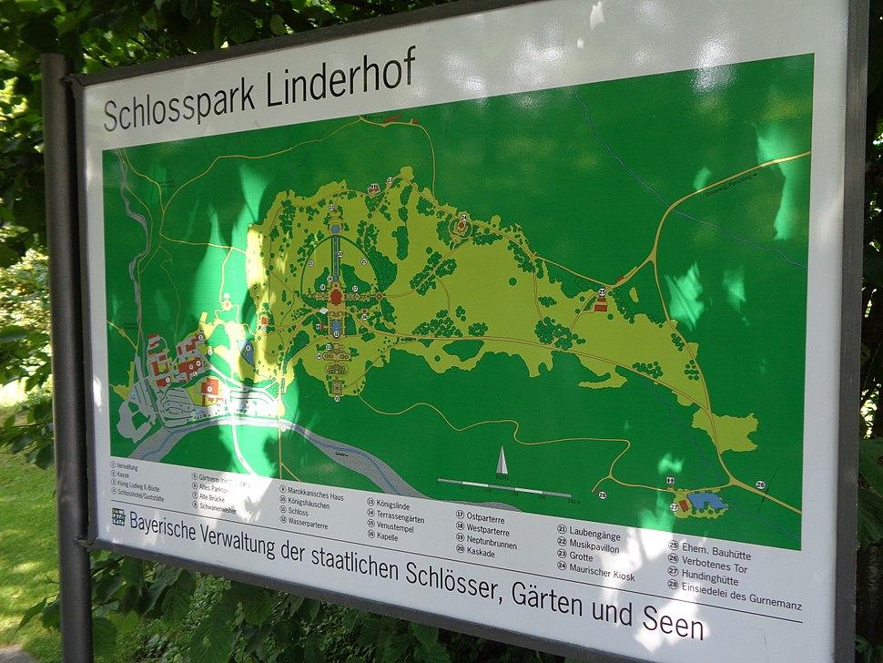 Dvorac Linderhof - informativni pano