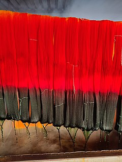Dyeing Process of adding color to textile products like fibers, yarns, and fabrics