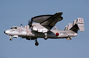 Japan Air Self-Defense Force - An E-2C Hawkeye landing at Misawa Air Base (1994)