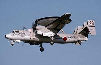 Japan Air Self-Defense Force - An E-2C Hawkeye landing at Misawa Air Base (1994)