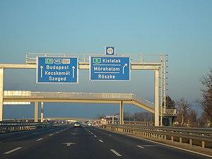 M5 motorway (Hungary) - Image: E75 Roszke