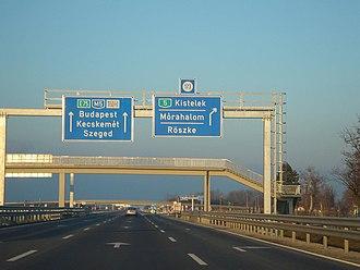 Csongrád County - M5 motorway near Röszke.