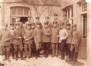34th Division (German Empire) - Staff of the Division in 1917 front/middle the commanding General Maj.Gen. Teetzmann (with cigar)