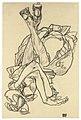 EGON SCHIELE 1890 - 1918 AM RÜCKEN LIEGENDES MÄDCHEN MIT ÜBERKREUZTEN ARMEN UND BEINEN (GIRL LYING ON HER BACK WITH CROSSED ARMS AND LEGS).jpg