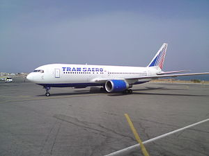 English: Transaero's Boeing 767-200ER reaches ...