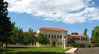 National Register of Historic Places listings in Union County, Oregon - Image: EOU Admin Building distant La Grande Oregon