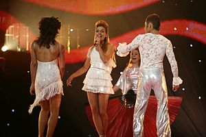 Portugal in the Eurovision Song Contest - Image: ESC 2007 Portugal Sabrina Dança comigo