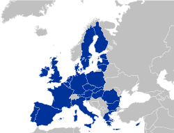Current membership of Euratom (coincides with that of the European Union).