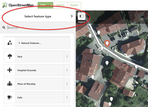 EWP Instructions OSM Select Feature Type