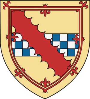 Randolph Stewart, 13th Earl of Galloway - Arms of Randolph, Earl of Galloway