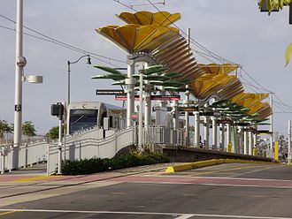 East Los Angeles, California - Gold Line Eastside extension East L.A. Civic Center station