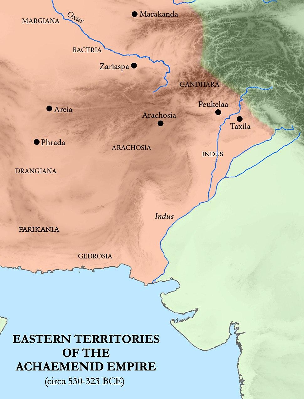 Eastern Satrapies of the Achaemenid Empire