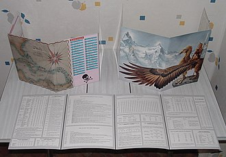 Gamemaster's screen - A variety of gamemaster's screens for different role-playing games.