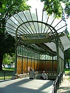 Hector Guimard's entrances for the Paris Métro, such as the Porte Dauphine station (1899), were well-known examples of Art Nouveau design, and the style became known in France as the Style Métro.