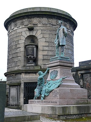George Edwin Bissell - Lincoln Memorial (1893), Old Calton Burying Ground, Edinburgh, Scotland.