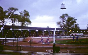 Powderhall Stadium - Speedway at Powderhall in 1982.