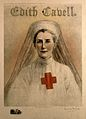 Edith Louisa Cavell in Red Cross uniform. Colour reproductio Wellcome V0006468.jpg