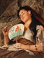 Edmund Blume - Girl Smoking Pipe with Japanese Fan.jpg