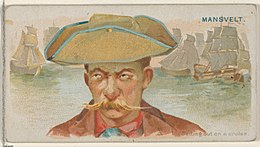 Edward Mansvelt, Setting Out on a Cruise, from the Pirates of the Spanish Main series (N19) for Allen & Ginter Cigarettes MET DP835039.jpg