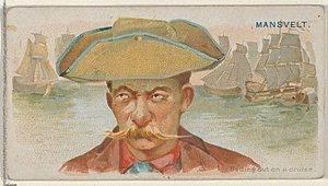 Edward Mansvelt - Image: Edward Mansvelt, Setting Out on a Cruise, from the Pirates of the Spanish Main series (N19) for Allen & Ginter Cigarettes MET DP835039