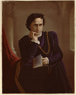 Edwin Booth as Hamlet lithograph