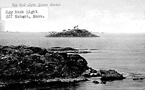 Egg Rock Light (Massachusetts) - US Coast Guard photo