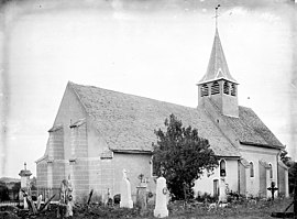 The church in Champmotteux, in the early 20th century