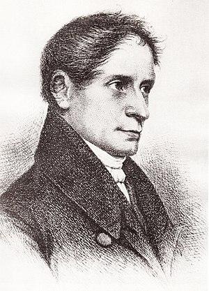 Joseph Freiherr von Eichendorff - Eichendorff, etching by Franz Kugler, 1832