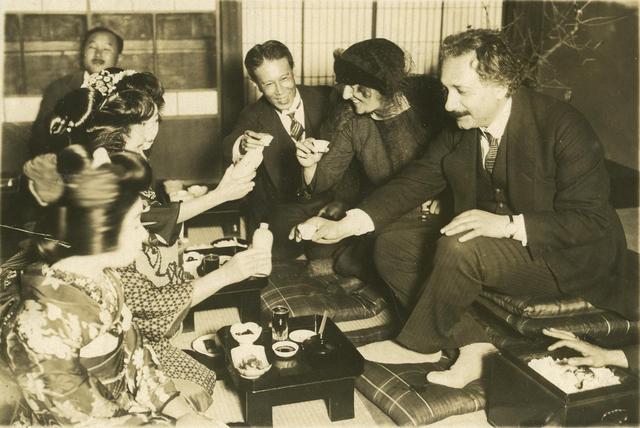 Эйнштейн с женой в Японии, ноябрь-декабрь 1922 года