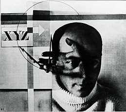 El Lissitzky The Constructor, self-portrait, gelatin silver print, 107×118 mm, 1924 London, Victoria and Albert Museum, Inv. PH142-1985.jpg