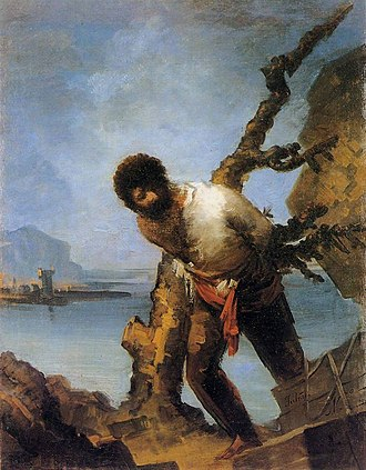 Asensio Julià - The Castaway; once attributed to Goya