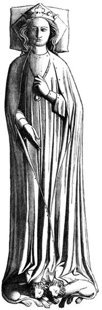 Eleanor of Castile - Eleanor's tomb effigy in Westminster Abbey