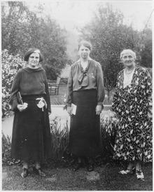Jane Addams con Eleanor Roosevelt e Elinor Morgenthau