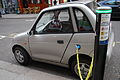 Electric car charging in Westminster April 2008.jpg