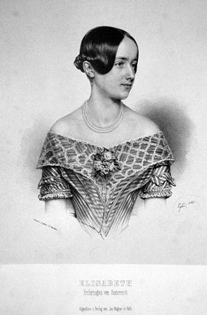 Archduchess Elisabeth Franziska of Austria - Image: Elisabeth E Rzherzogin Litho