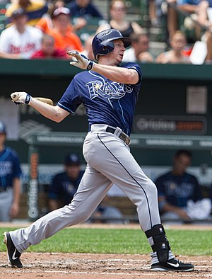 Elliot Johnson (baseball) - Johnson with the Tampa Bay Rays in 2012
